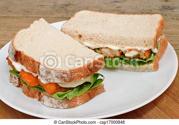 platte, fisch- sandwich, finger - csp17000848