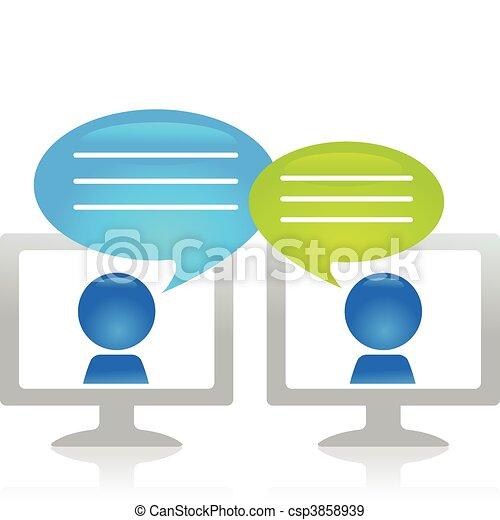 Internet-Chatting - csp3858939