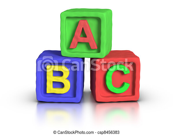 Play Blocks - ABC - csp8456383