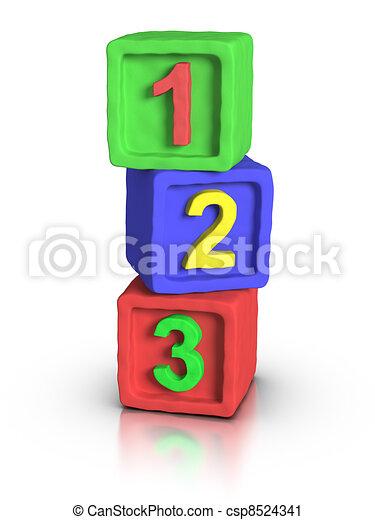 Play Blocks - Numbers - csp8524341