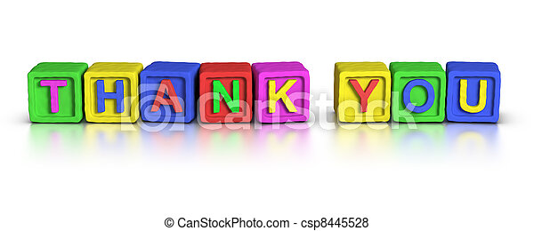 Play Blocks : THANK YOU - csp8445528