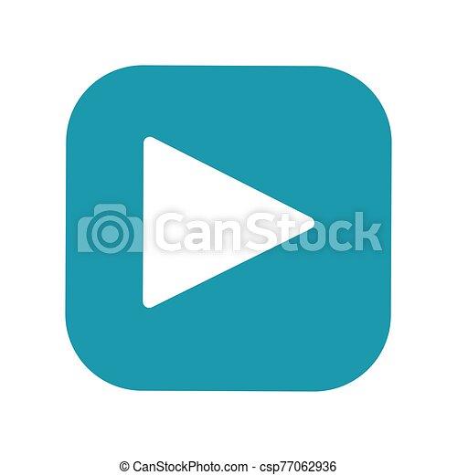 Play button flat vector icon - csp77062936