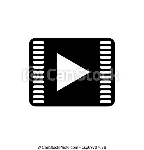 Play button icon on a white background - csp69707876