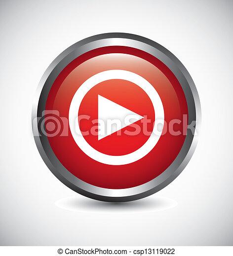 play button - csp13119022