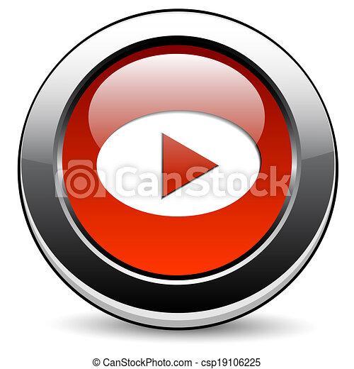 Play button - csp19106225