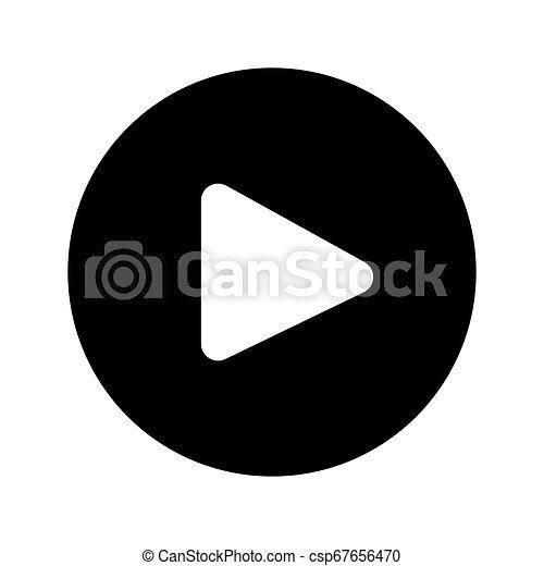 Play Button Web Icon - msidiqf - csp67656470