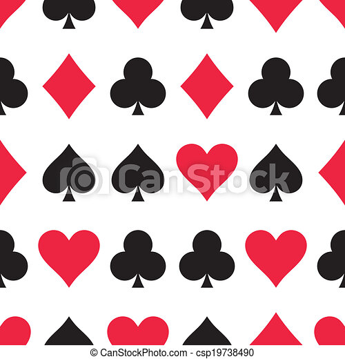 Play Cards Pattern Seamless Vector Pattern Made Of Playing Card