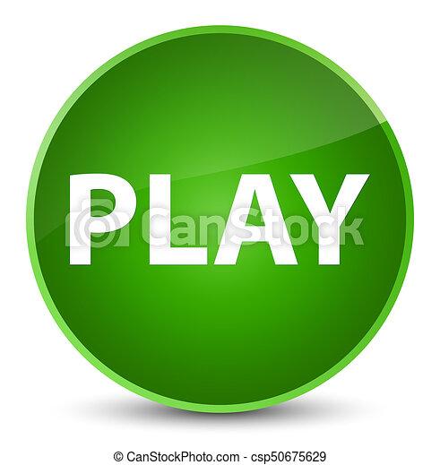 Play elegant green round button - csp50675629