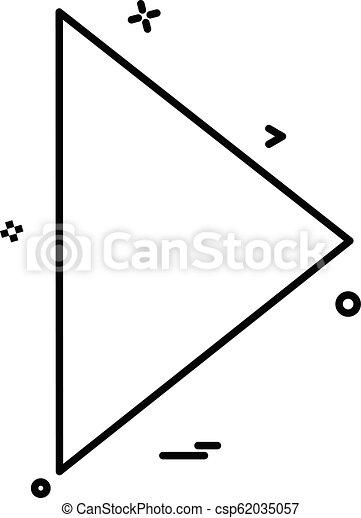 Play icon design vector - csp62035057