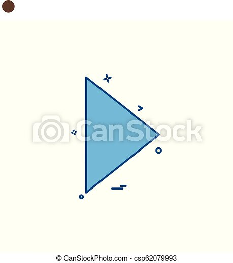 Play icon design vector - csp62079993