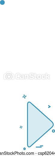 Play icon design vector - csp62044480