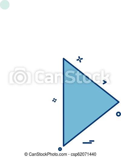 Play icon design vector - csp62071440