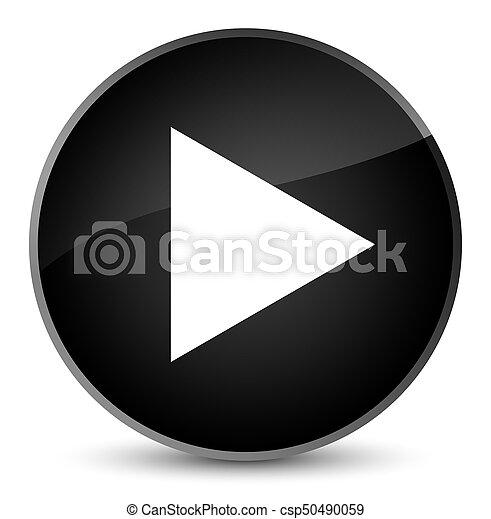 Play icon elegant black round button - csp50490059