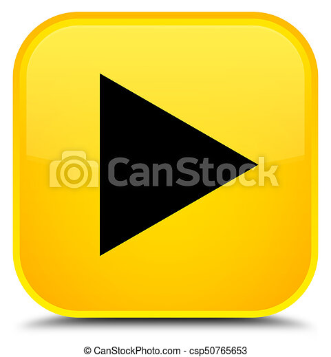 Play icon special yellow square button - csp50765653