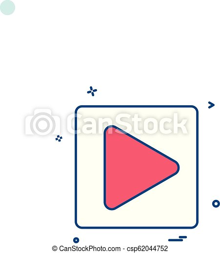 play icon vector design - csp62044752