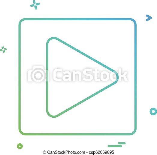 play icon vector design - csp62069095