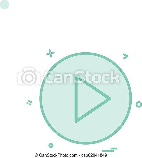 play icon vector design - csp62041849