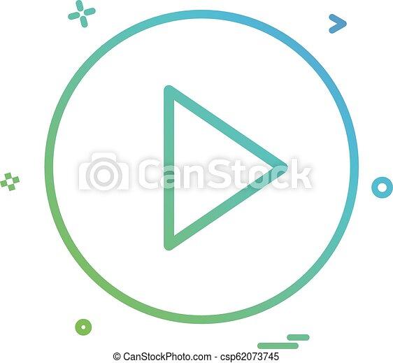 play icon vector design - csp62073745