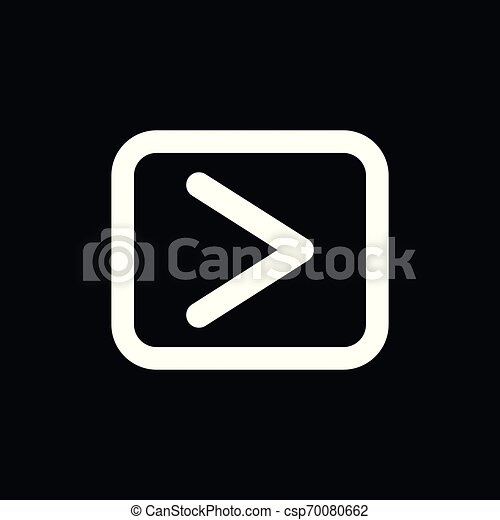 play Icon vector sign symbol for design - csp70080662