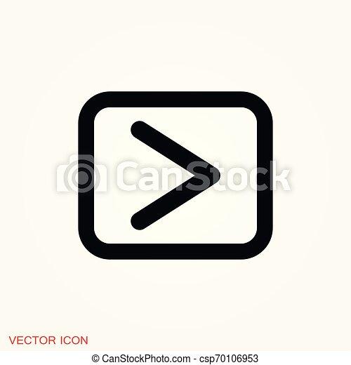 play Icon vector sign symbol for design - csp70106953