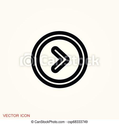 play Icon vector sign symbol for design - csp68333749
