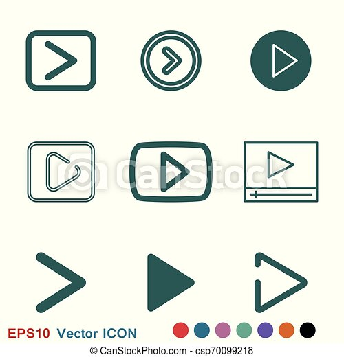 play Icon vector sign symbol for design - csp70099218
