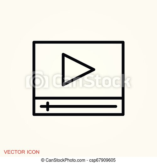play Icon vector sign symbol for design - csp67909605