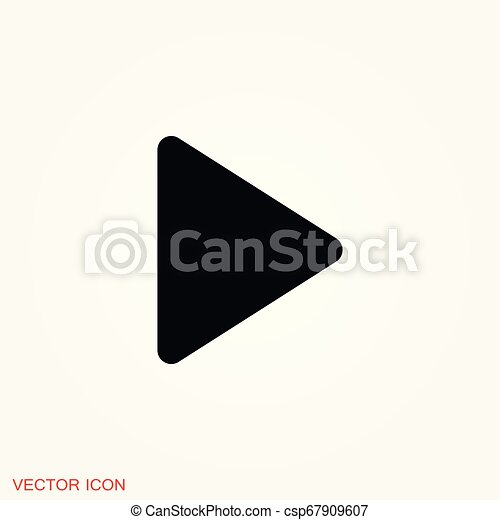 play Icon vector sign symbol for design - csp67909607