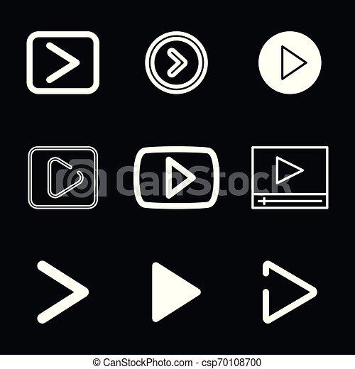 play Icon vector sign symbol for design - csp70108700