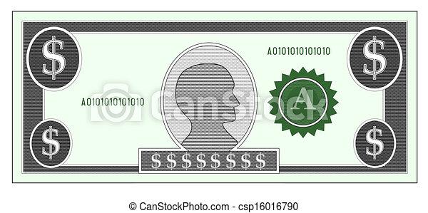 play money dollar illustration of a dollar play money done in retro rh canstockphoto com Money Border Money Border Clip Art