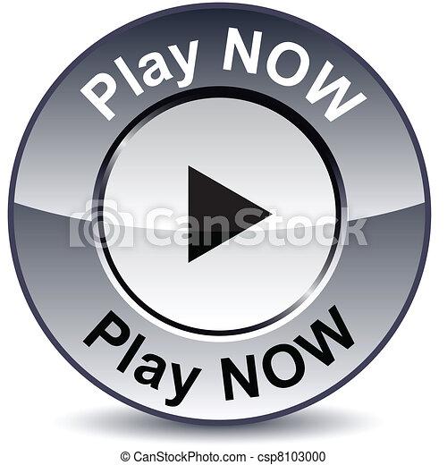 Play now round button. - csp8103000