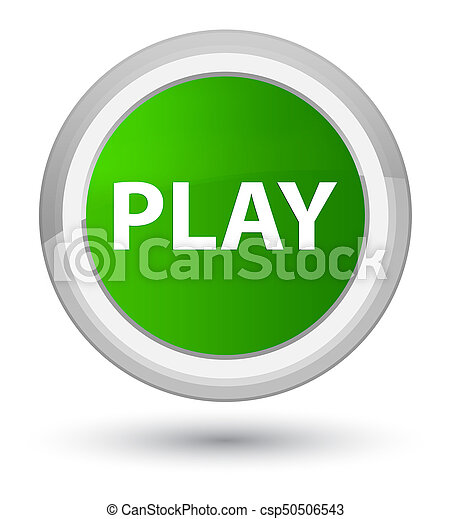 Play prime green round button - csp50506543