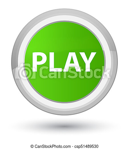 Play prime soft green round button - csp51489530