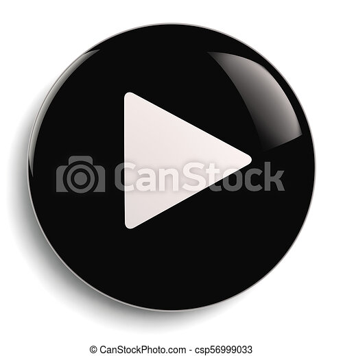 Play Push Button Circle Symbol - csp56999033