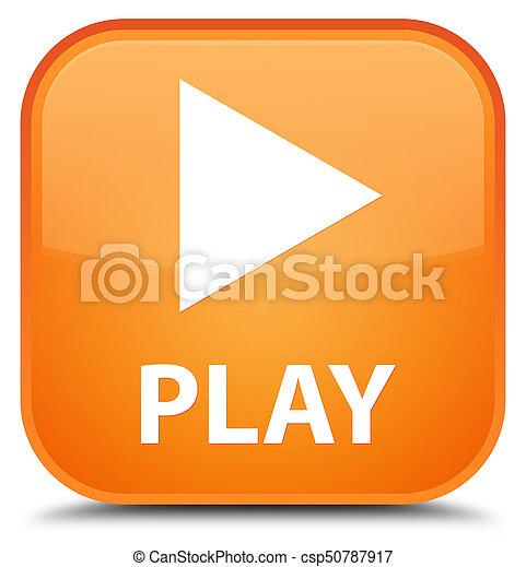 Play special orange square button - csp50787917