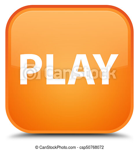 Play special orange square button - csp50768072