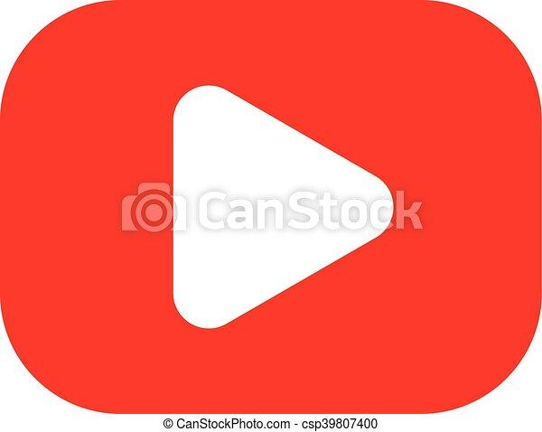 Play Symbol Vector Icon - csp39807400