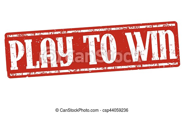 Play to win sign or stamp - csp44059236