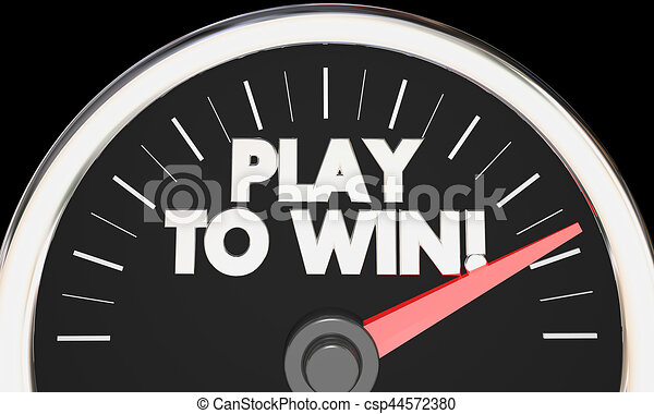 Play to Win Speedometer Competition Fast Performance Success 3d Illustration - csp44572380