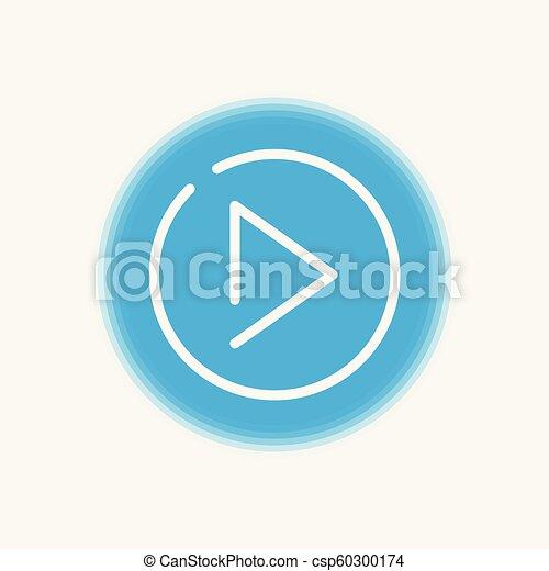 Play vector icon sign symbol - csp60300174