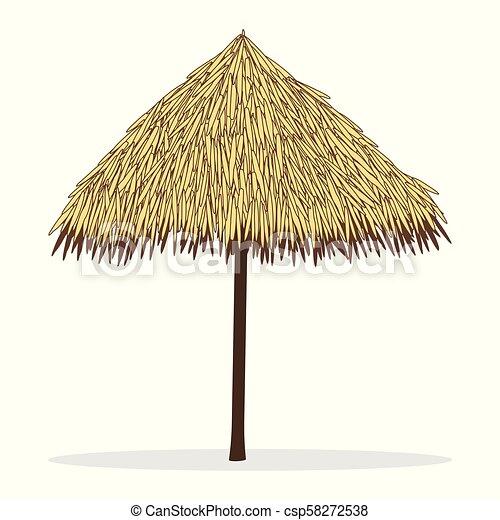 Precio al por mayor 2019 imágenes detalladas precio al por mayor playa, bambú, paraguas blanco, aislado