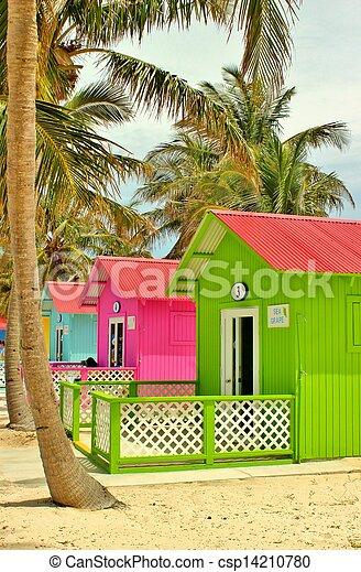 Cabanas de playa - csp14210780