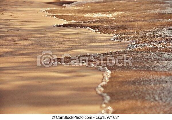 playa de arena, plano de fondo - csp15971631