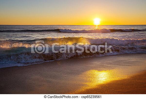 Playa hawaiana al amanecer - csp65239561