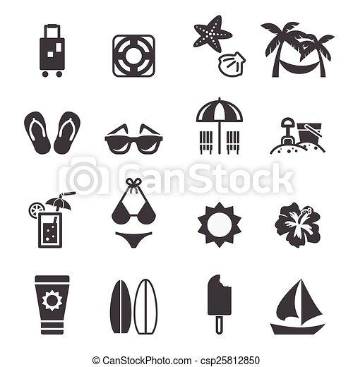 icono de playa - csp25812850