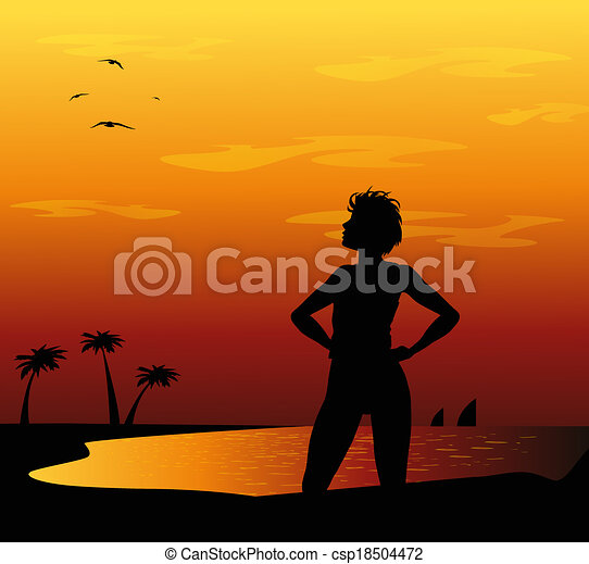 En la playa - csp18504472