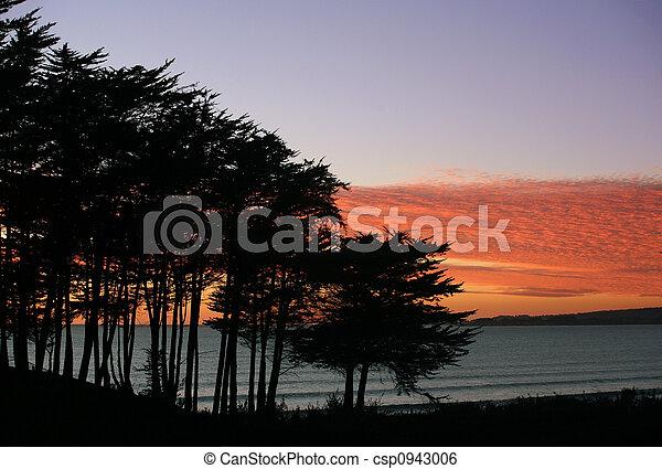 playa, ocaso - csp0943006