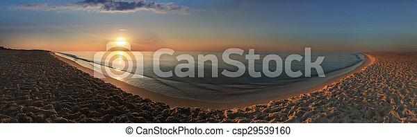 Playa al atardecer - csp29539160