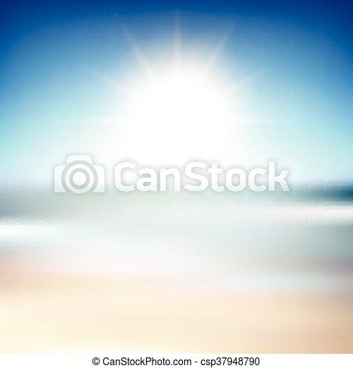 Trasfondo borroso de playa - csp37948790