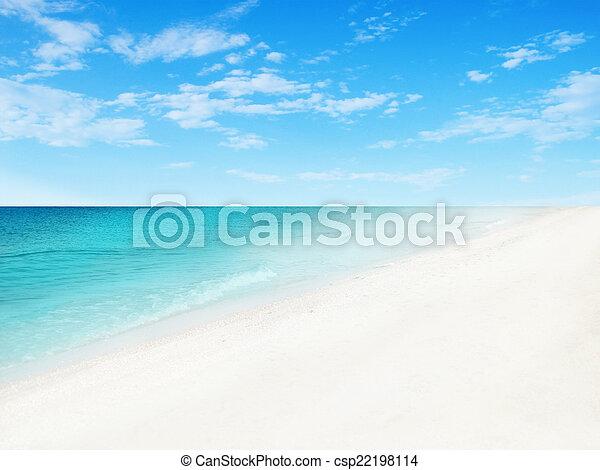 Fondo de playa - csp22198114